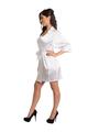 Zynotti's Wedding Party Satin Robe in White
