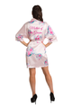 Zynotti Floral Mother of the Groom Satin Robe