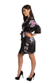 Floral Mother of the Groom Satin Robe