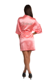 Zynotti Personalized Embroidered  Bridesmaid Coral Satin Robe