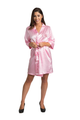 Zynotti personalized embroidered monogram pink satin robe