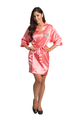 Zynotti Personalized Embroidered Monogram Coral Satin Robe