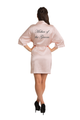 ZYNOTTI Personalized Embroidered Monogram Mother of the Groom Satin Robe