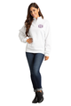 Zynotti Women's Personalized Custom Embroidered Monogram Quarter Zip White Pullover Sweater