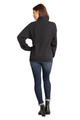 Zynotti Women's Personalized Custom Embroidered Monogram Quarter Zip Black Pullover Sweater