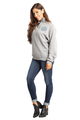 Zynotti Women's Personalized Custom Embroidered Monogram Quarter Zip Oxford Grey Pullover Sweater