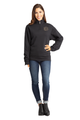 Zynotti Women's Personalized Custom Embroidered Monogram Quarter Zip Black Pullover Sweater
