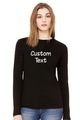 Customize Your own Long Sleeve Top-Glitter Vinyl