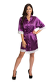 Zynotti's Personalized Embroidered Satin Lace Robe in Wine