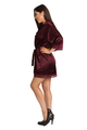 Zynotti's Wedding Party Satin Lace Robe in Wine