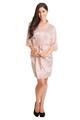 Zynotti Blush Pink Lace Satin Robe