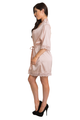 Zynotti Blush Pink Wedding Kimono Lace Satin Robe