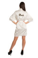 Zynotti Personalized Embroidered Bride White Lace Satin Robe
