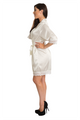 Zynotti Personalized Embroidered White Lace Bridal Satin Robe