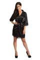 Zynotti Black Lace satin robe