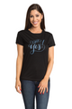 Zynotti I Said Yes Bride-to-be Newly Engaged Bachelorette Engagement Party Black Tee Shirt Top