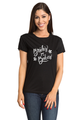 Zynotti Bride's Babes Bachelorette Engagement Party Black Tee Shirt Top