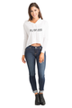 Zynotti Women's Flawless White Crop Top Sweatshirt Sweater Hoodie