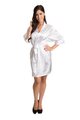 Zynotti White Satin Robe