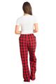 Zynotti personalized custom print red buffalo plaid flannel pajama pants