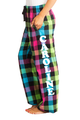 Zynotti personalized custom print colored plaid flannel pajama pants