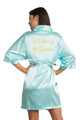 Gold Glitter Mother of the Groom Satin Robe