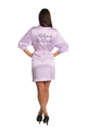 Zynotti's Custom Rhinestone Mother of the Bride Satin Robe