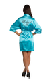 Custom Rhinestone Mother of the Bride Satin Robe