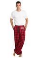 Zynotti men's personalized custom embroidered monogram buffalo plaid flannel pajama lounge sleepwear pants