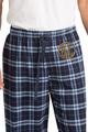 Zynotti men's personalized custom embroidered monogram navy plaid flannel pajama lounge sleepwear pants