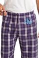 Zynotti men's personalized custom embroidered monogram purple white plaid flannel pajama lounge sleepwear pants