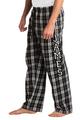 zynotti men's Custom Print black and white Flannel plaid Pajama lounge sleepwear Pants