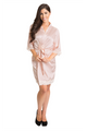 Custom Embroidered Mother of the Bride Lace Satin Robe