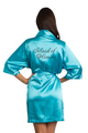 Custom Rhinestone Maid of Honor Satin Robe
