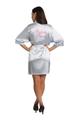 Custom Rhinestone Maid of Honor Satin Robe