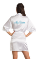 Zynotti Personalized Embroidered Mrs. White Satin Robe