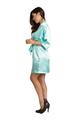 Aqua Tiffany Blue Bridal Party Satin Robe