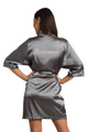 Personalized Embroidered Bridesmaid Satin Kimono Robe