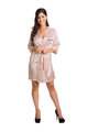 Zynotti Personalized Embroidered Maid of Honor Satin Robe