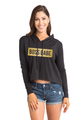 Zynotti Boss Babe Cropped Hoodie in Black