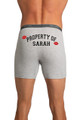 Zynotti's Property of (Name) 2 Lips - Gray Boxer Brief