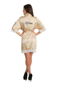 Zynotti's Personalized Embroidered Satin Lace Robe in Champagne