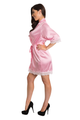 Zynotti's Wedding Party Satin Lace Robe in Pink