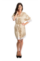 Zynotti's Wedding Party Satin Lace Robe in Champagne