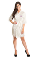 Personalized Embroidered Satin Lace Robe in Ren Overlay Style