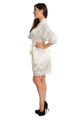 Zynotti's Satin Lace Robe in Ivory