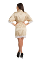 Zynotti's Satin Lace Robe in Champagne