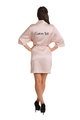 Zynotti's Personalized Embroidered Back Satin Robe in Blush