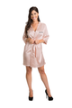 Zynotti's Personalized Embroidered Front Satin Robe in Blush