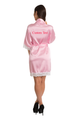 Zynotti's Personalized Embroidered Back Satin Robe in Pink